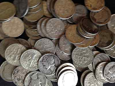 1/2 Troy Pound Lb Washington & Roosevelt 90% Silver Coins Us Mint One Half Lot