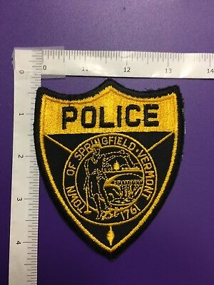 Springfield Vermont  Police  Shoulder Patch