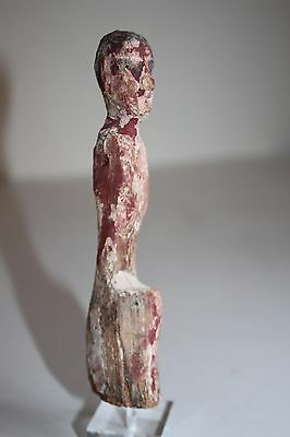 ANCIENT EGYPTIAN MIDDLE KINGDOM WOODEN BOATMAN FIGURE circa 2000 BC