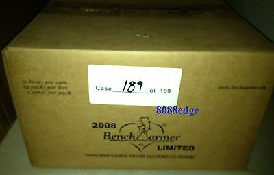 2008 Benchwarmer Limited Factory Sealed Case (12 Box) - Kiss/bikini/swatch/auto