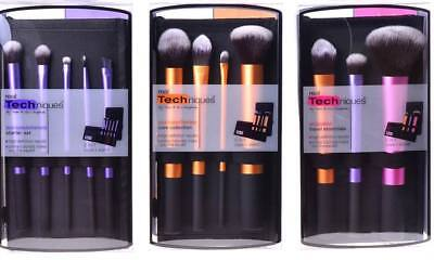 Real Techniques Makeup Brushes Core Collection Starter Travel Essentials 3 sets