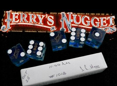 Lot of 5 JERRYS NUGGET CASINO Vintage Las Vegas Craps DICE BLUE Match #'s