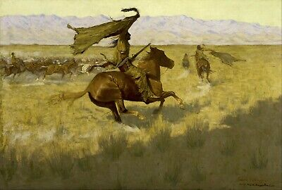 Change of Ownership by Frederic Remington Giclee Reproduction Canvas