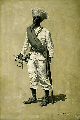 One of Gomez' Men  by Frederic Remington Giclee Repro Canvas