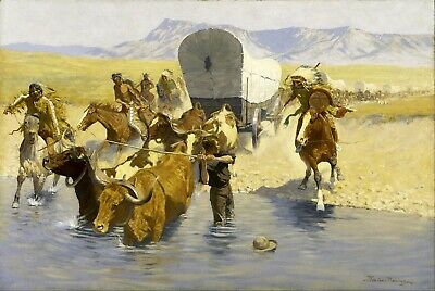 The Emigrants by Frederic Remington Giclee Repro Canvas