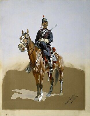 The Gendarme by Frederic Remington Giclee Repro Canvas