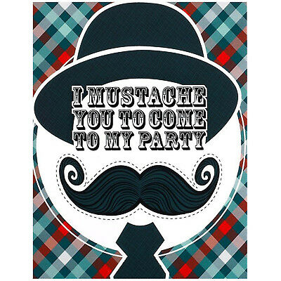 Little Man Mustache Invitations