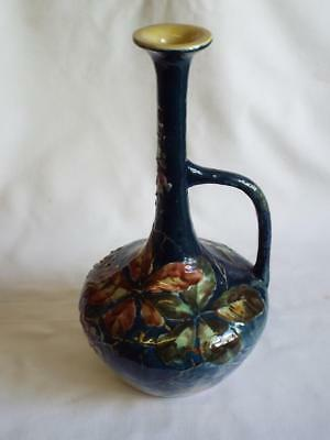 "Lovely large 11.5"" antique Bretby impasto jug vase"