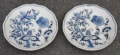 Lovely Blue Danube Banner Mark Set Of Two Saucers Only
