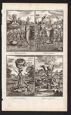 Engraving of Picart 1728 THE INCARNATIONS OF BUDDHA