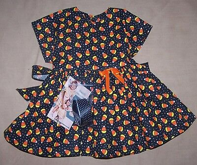 "Candy Corn Dress for 22"" Saucy Walker or similar Dolls - DRESS ONLY"