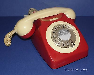 VINTAGE BT / GPO ROTARY DIAL TELEPHONE * Tested / Working * Phone * 8746G *