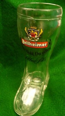 Bellheimer beer boot German 8 ounces Zum Wohl Du edles