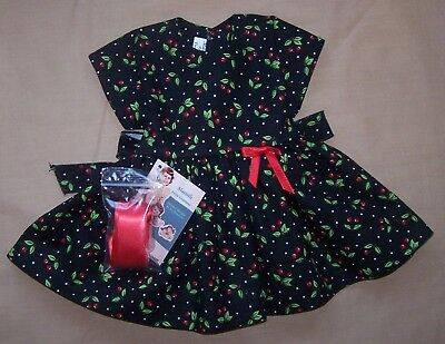 "Christmas Dress for 22"" Saucy Walker or similar Dolls - DRESS ONLY"