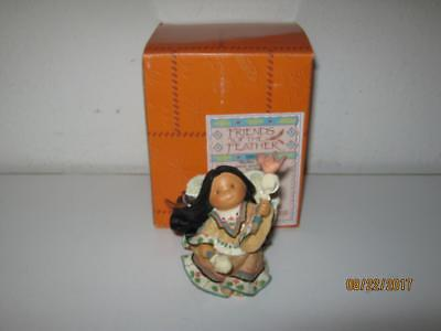 Enesco Friends Of The Feather-Rhythm Of Life-Angel With Rattles Figurine-W/box