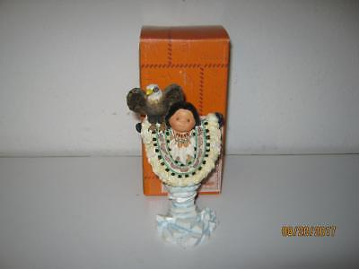 Enesco Friends Of The Feather-Let Your Spirits Soar-Eskimo With Eagle-With Box