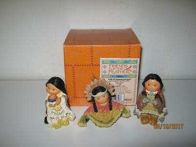 Enesco Friends Of The Feather-1996-Gifts Of Wampum-Pum-Pum-3 Kings With Box