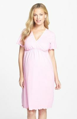 New Japanese Weekend Maternity Nursing Pajama PJ Hospital Night Gown XS 2 4 Pink