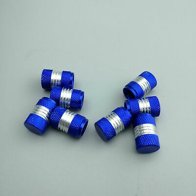 Blue Refit Valve Stems Anodized Aluminum Tire Valve Stem Caps 4PCS For Universal