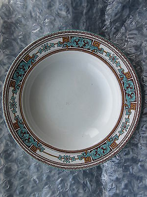 Antique Transferware Bowl J&M.P.Bell & Co Glasgow Turquoise  & Brown