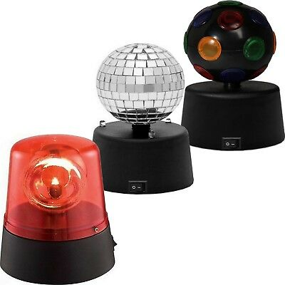 Disco Balls Party Lights x3 Set DJ Lighting Mini Small Mirror Strobe Decorations