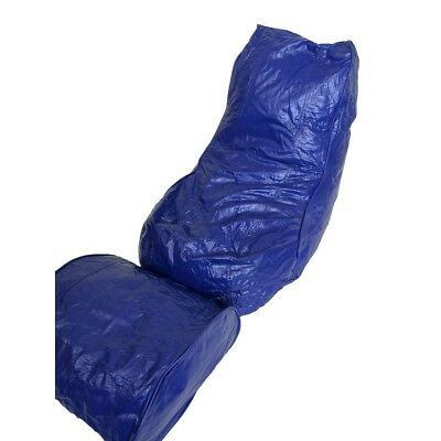 Boscoman - Vinyl Bean Bag Lounger w/Footrest - Twilight Blue