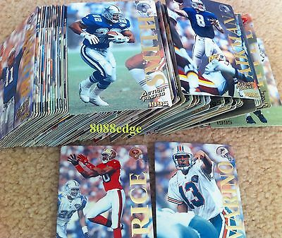 1995 Action Packed Nfl Football Compete 126 Cards Set: Superstars+Rookies Rc