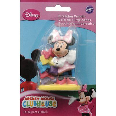 """Wilton Disney Mickey Mouse Clubhouse Minnie Birthday Cake 3"""" Candle Decoration"""