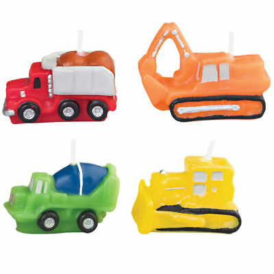 Wilton Construction Vehicles Birthday Cake Candles - Kid Child Party 2811-858