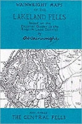 Wainwright Maps of the Lakeland Fells: The Central Fells Map 3 (Map), Alfred Wa.