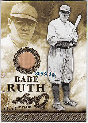 2015 Leaf Q Authentic Game-Used Bat Swatch:babe Ruth #25/25 New York Yankees 1/1