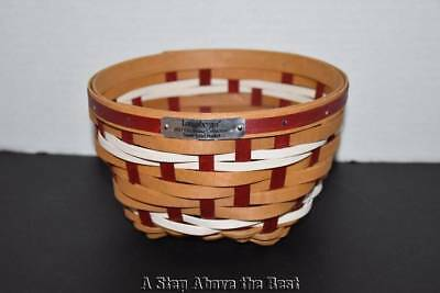 Longaberger 2017 Christmas Snow Swirl Basket in Warm Brown & Bold Red NEW