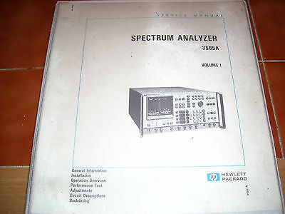 Hp Spectrum Analysers (Two Of) 3585A With Manual