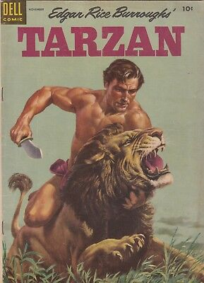 1954 Dell Edgar Rice Burroughs Tarzan Comic Book #62 BC