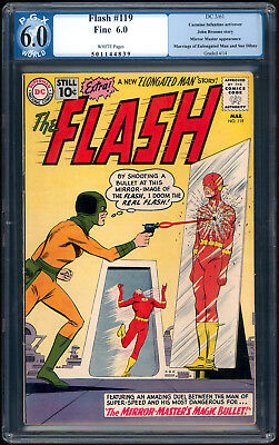 """The FLASH #119 """"1961"""". 3rd App. of The MIRROR MASTER! PGX Graded Fine 6.0"""