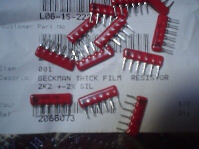 Bi L06-1S-222 2.2K Ohm 6 Pin 2% Low C-Sip Resistor Network Array