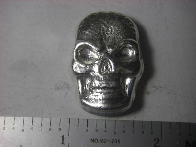 Celtic Skull - Beaver Bullion hand poured Canadian 1 troy ounce 999 fine silver