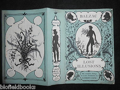 ORIGINAL Philippe Jullian DUSTJACKET/COVER (ONLY) for Lost Illusions by Balzac
