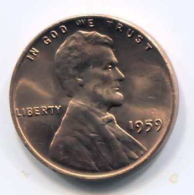 1959 Lincoln Memorial Penny - Uncirculated American One Cent Coin Philadelphia