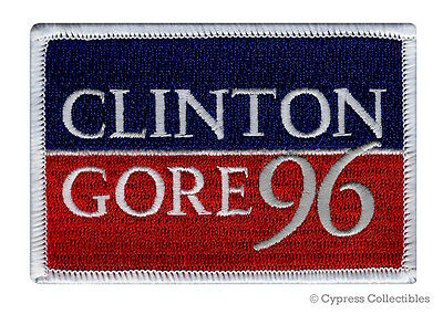 CLINTON GORE 96 iron-on embroidered PATCH VOTE DEMOCRAT ELECTION BILL HILLARY AL