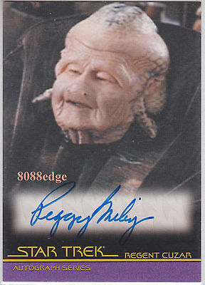 """2010 Star Trek Quotable Movies Auto: Peggy Miley #a103 Autograph""""primary Colors"""""""