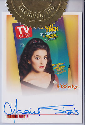 2005 Star Trek Quotable Tng Case Auto: Marina Sirtis #Tva1 Tv Guide Autograph