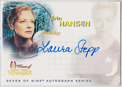 "2001 Women Of Star Trek Voyager Auto: Laura Stepp #Sa4 Autograph ""Spawn"""