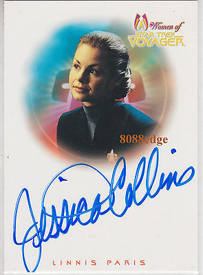 "2001 Women Of Star Trek Voyager Auto: Jessica Collins #A8 Autograph ""90210/Ncis"""