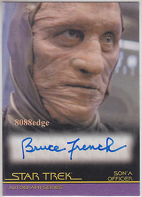 """2010 Star Trek Quotable Movies Auto: Bruce French #a85 Autograph """"passions"""""""
