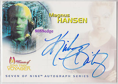 """2001 Women Of Star Trek Voyager Auto: Kirk Baily #sa6 Autograph """"melrose Place"""""""