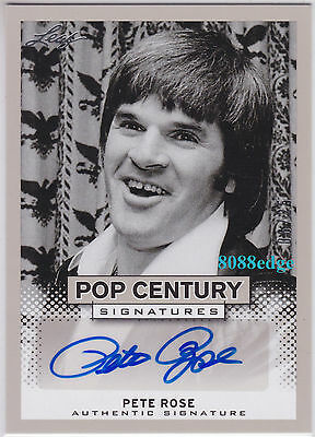 2013 Pop Century Auto: Pete Rose #6/25 Autograph Baseball All-Time Hits Record