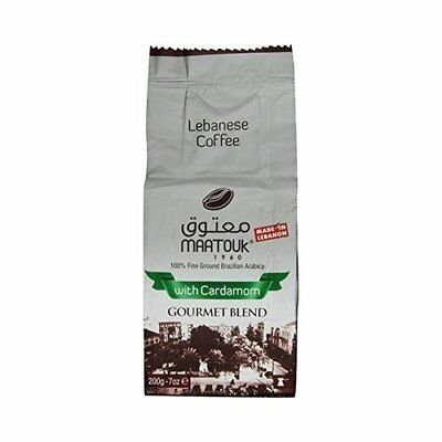 Maatouk Lebanese Coffee with Cardamom Gourmet Blend, 200g/ 7oz