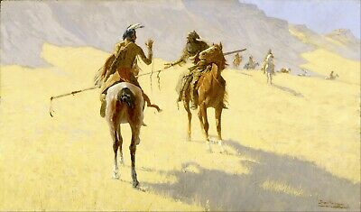 The Parley by Frederic Remington Giclee Repro Canvas