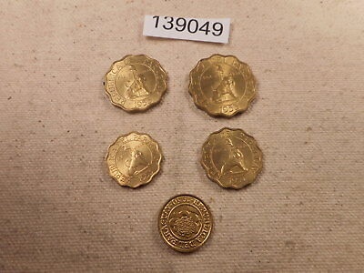 1950's Paraguay Centimos Type Set - Very Nice Collector Album Coins - # 139049